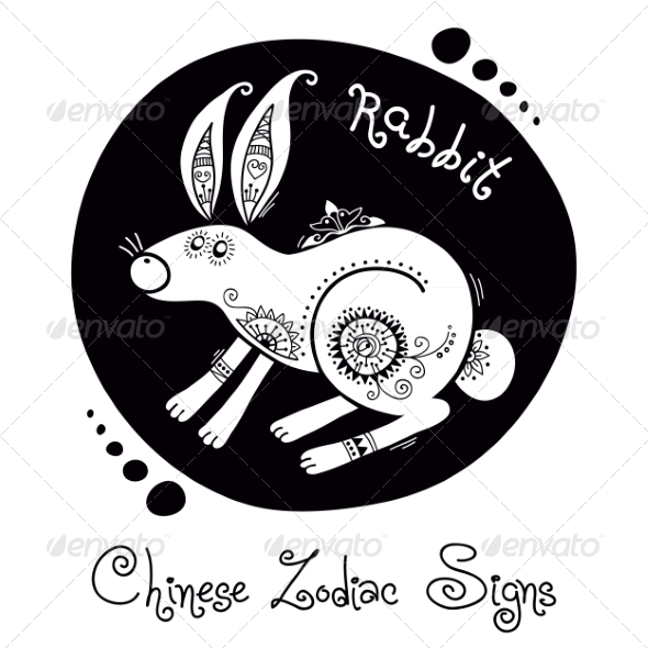 GraphicRiver Rabbit Chinese Zodiac Sign 8576431
