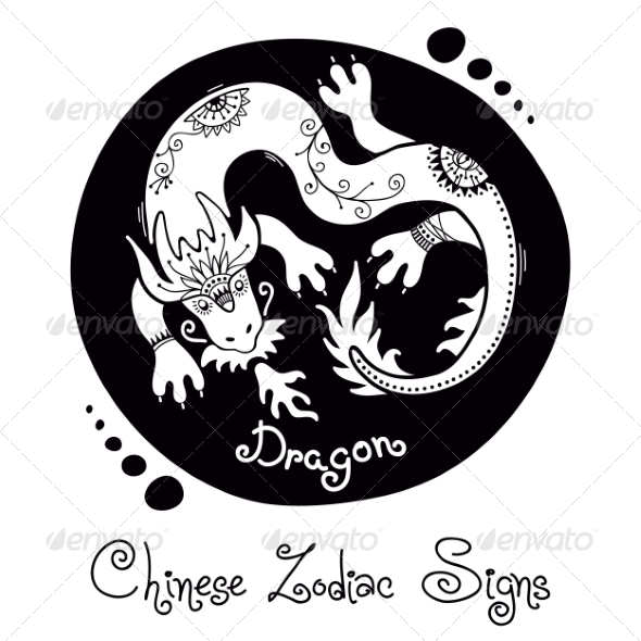 GraphicRiver Dragon Chinese Zodiac Sign 8576435