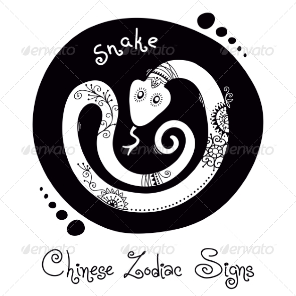 GraphicRiver Snake Chinese Zodiac Sign 8576436