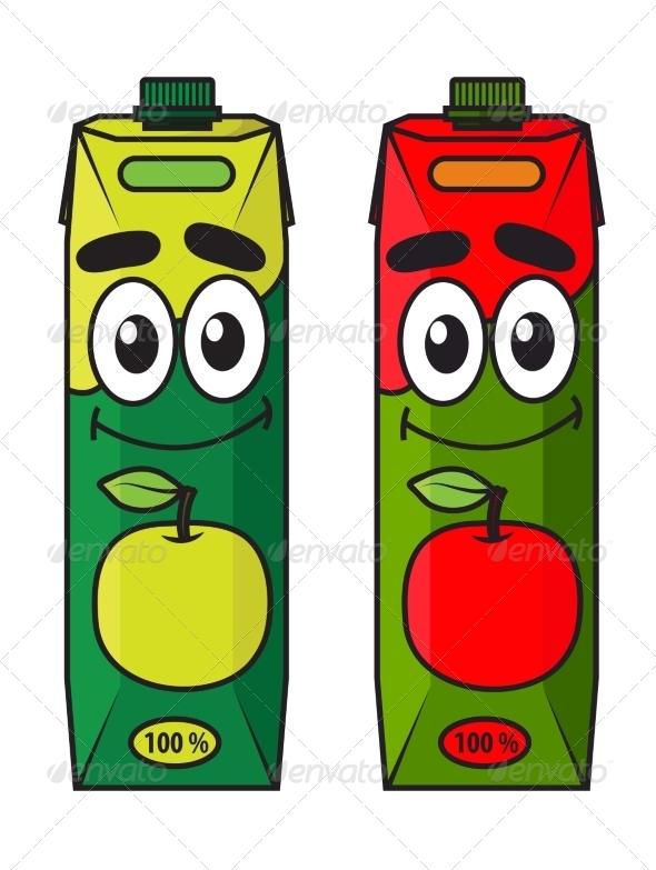 GraphicRiver Cartoon Apple Juice Package 8576452