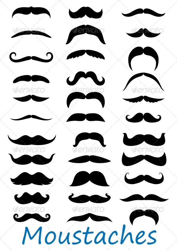 GraphicRiver Moustache Icons Set 8576483