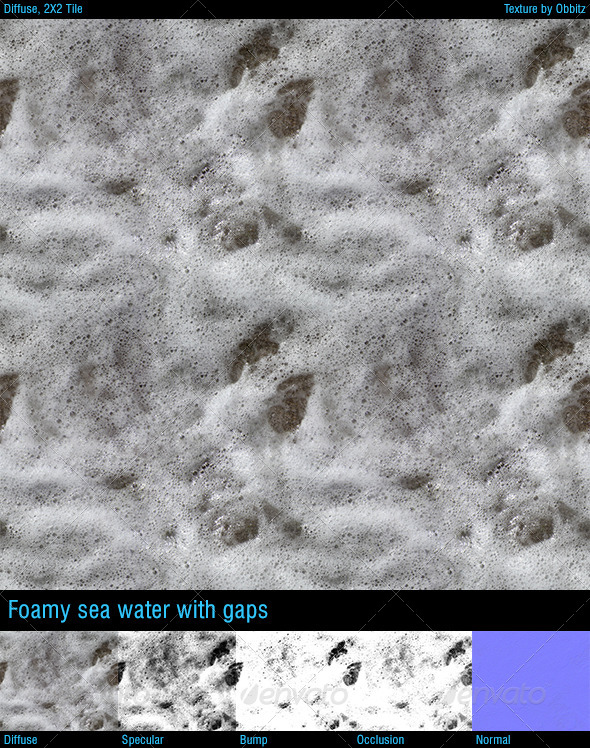 3DOcean Foamy seawater with gaps 8576844