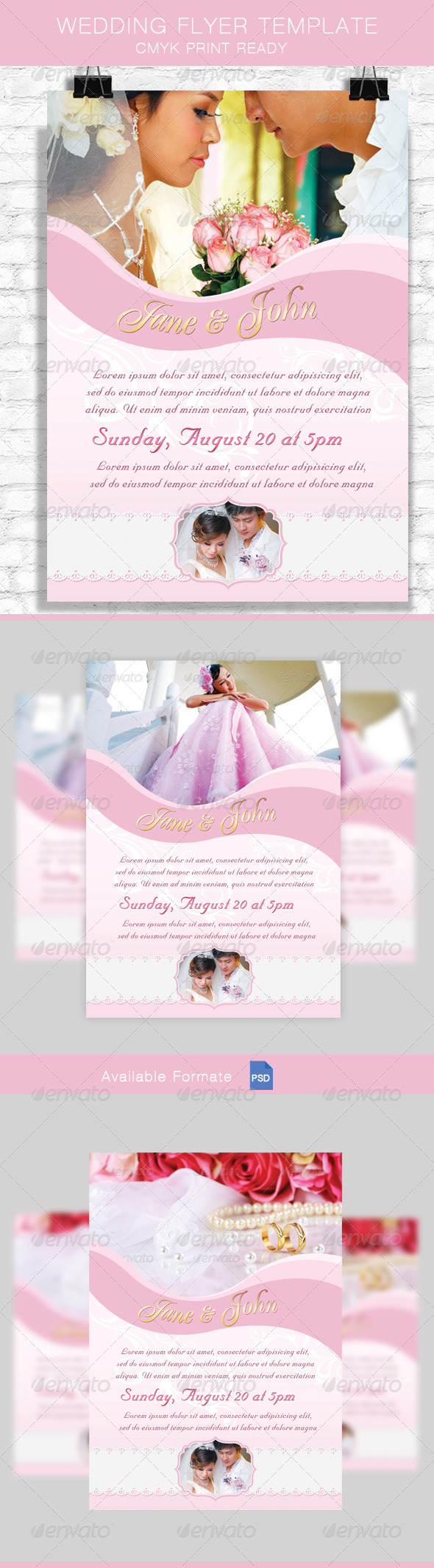 GraphicRiver Wedding Flyer Template 8578500