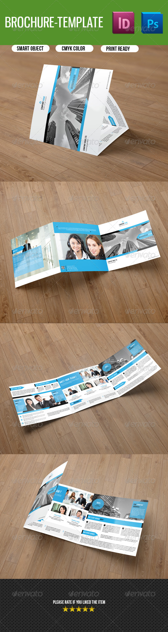 GraphicRiver Square Tri-fold Business Brochure V32 8581259