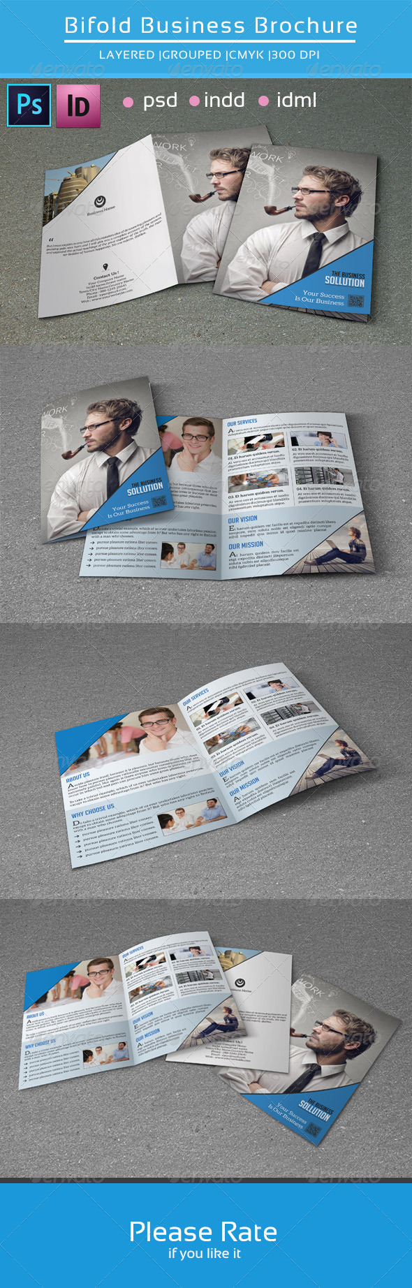 GraphicRiver Bifold business brochure v111 8582668