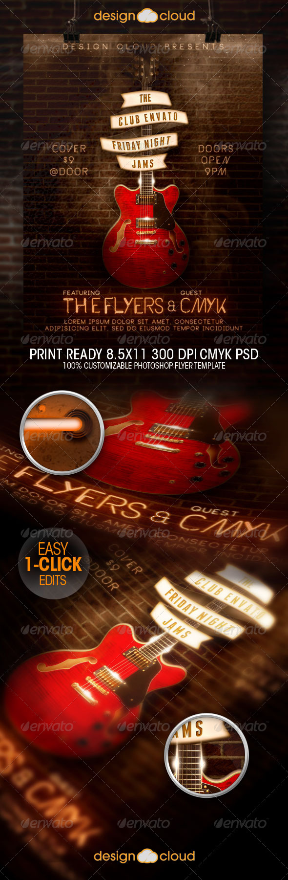 GraphicRiver Friday Night Jam Flyer Template 8582672