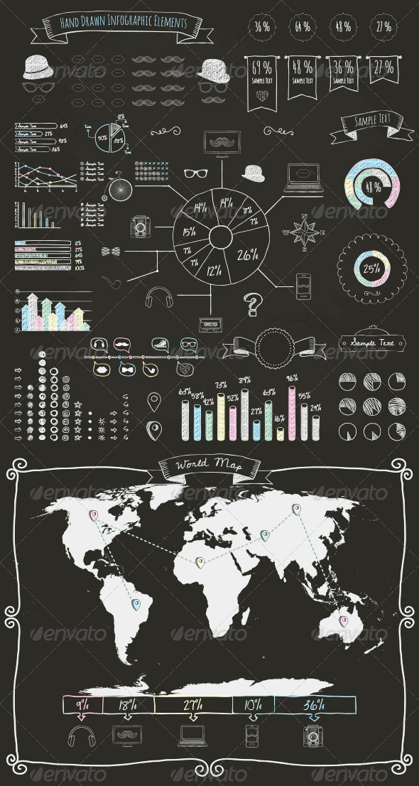 GraphicRiver Elements and Icons of Infographics 8567162