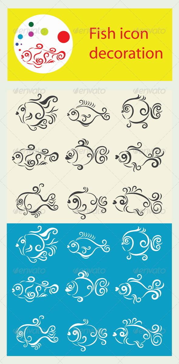 GraphicRiver Fish Icon Set 8582756
