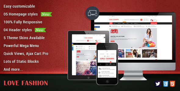 Love Fashion - Responsive Magento Fashion Theme - Fashion Magento