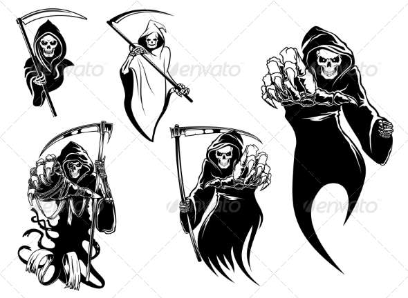 GraphicRiver Death Skeleton Characters 8582887