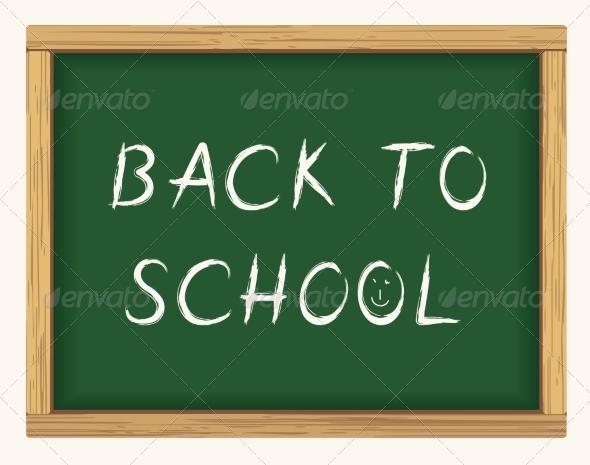 GraphicRiver Back to School Blackboard Poster 8582911