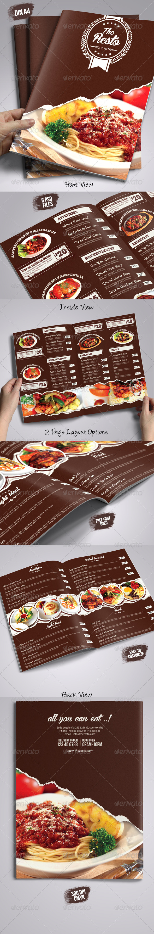 GraphicRiver The Resto Menu Templates 8583473