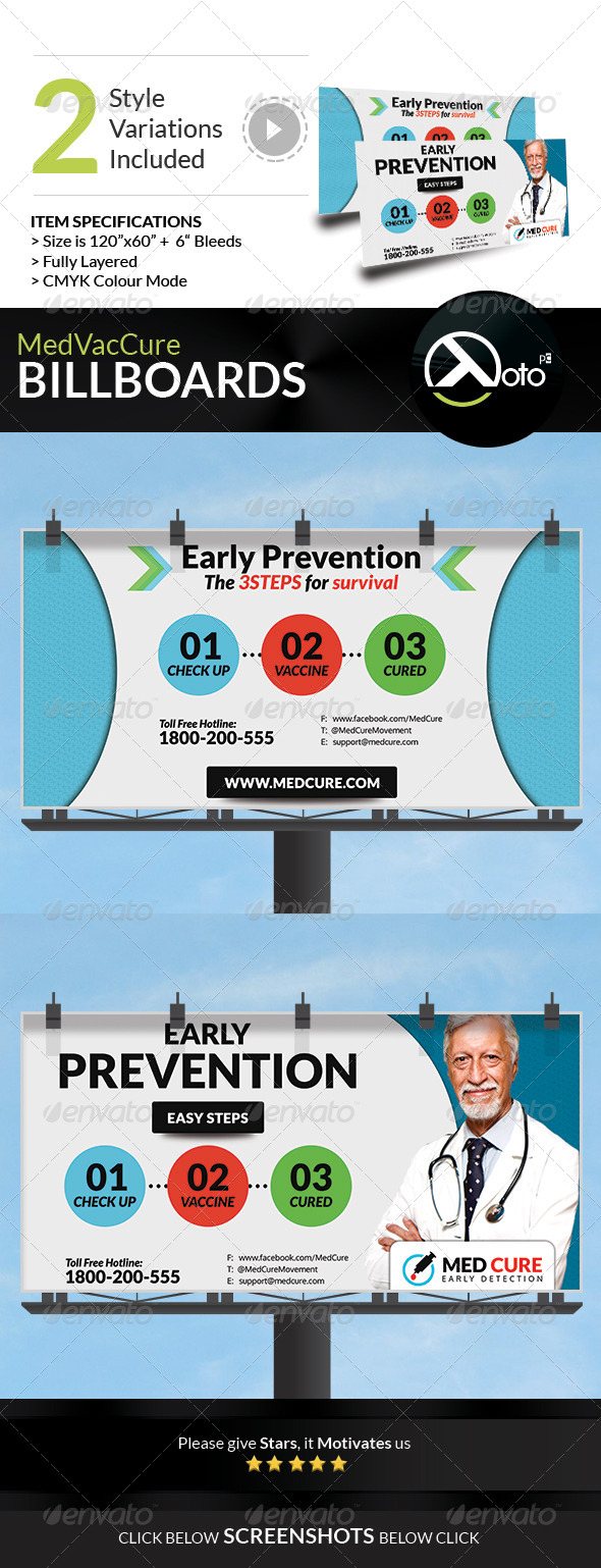 Med Vac Cure Health Care Billboard Signages