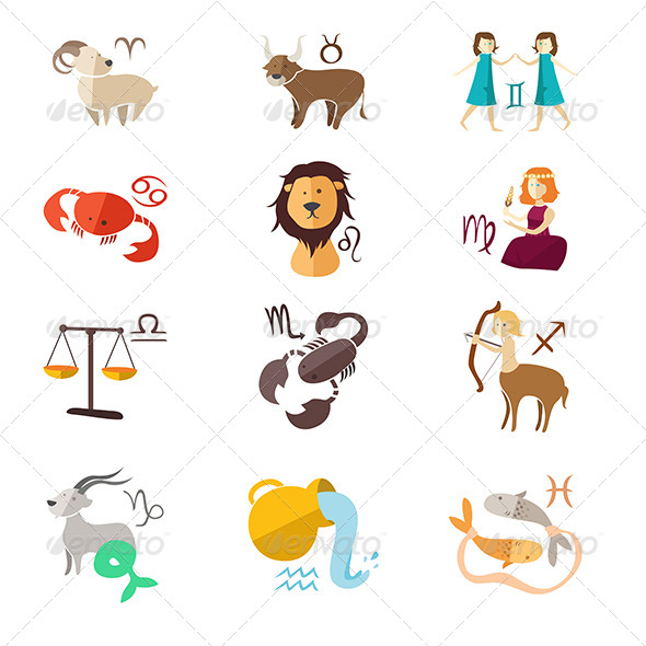 GraphicRiver Zodiac Sign Icons 8583882