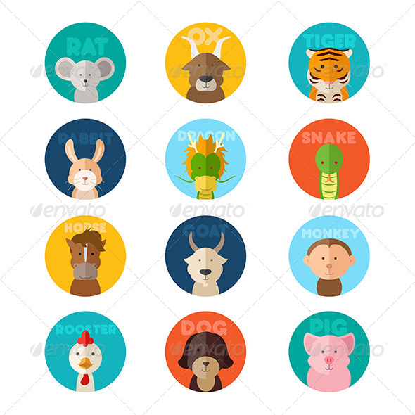 GraphicRiver Chinese Zodiac Animal 8583913