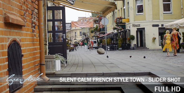 Calm Day at French Old Town Street