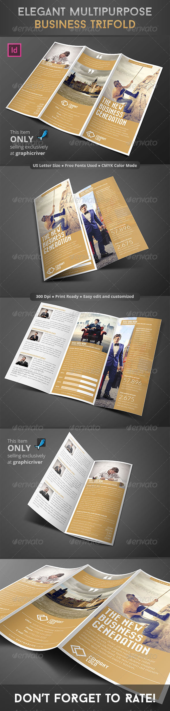 GraphicRiver Elegant Multipurpose Business Trifold 8584143