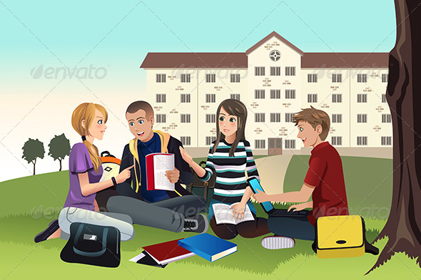 College Students Studying Outdoor (People) Download ~ Best ...