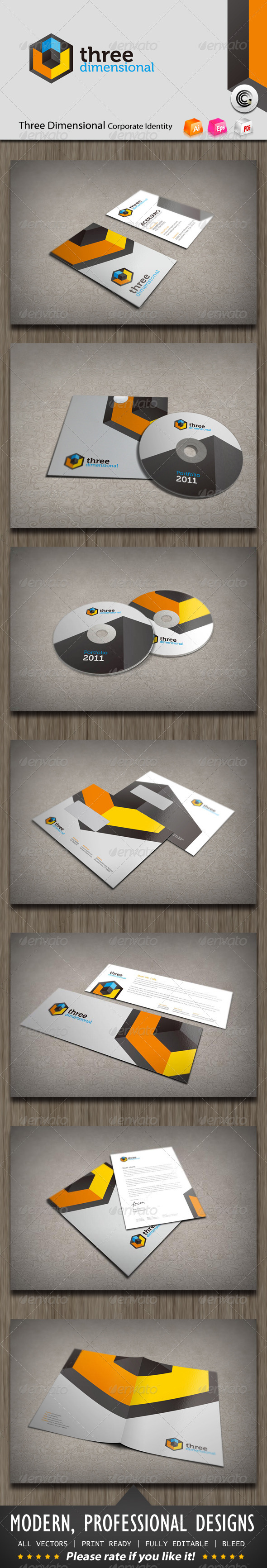 GraphicRiver Three Dimensional Corporate Identity 872571