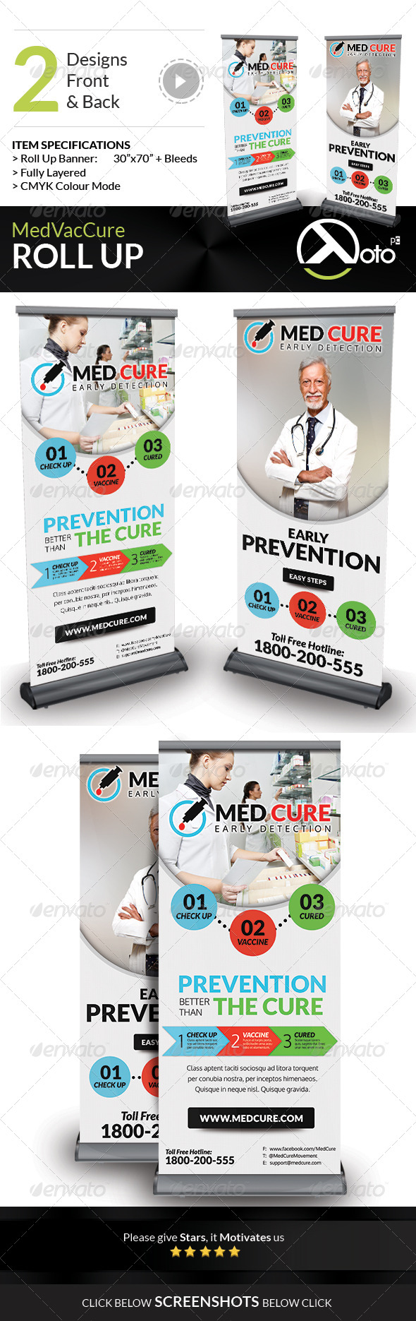 GraphicRiver Med Vac Cure Health Care Roll Up Banners 8584702