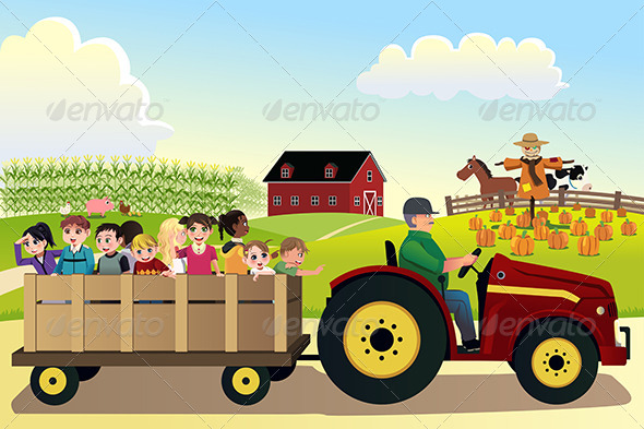 GraphicRiver Kids going on a Hayride 8584783