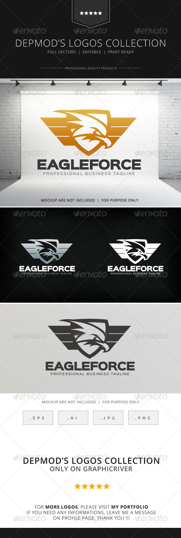 GraphicRiver Eagle Force Logo 8584787
