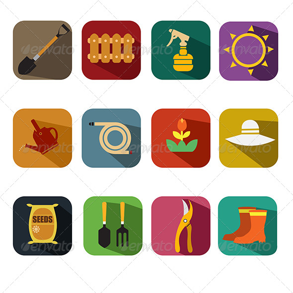GraphicRiver Gardening Icons 8584818