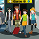 Group of Young People Traveling  - GraphicRiver Item for Sale