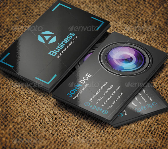 GraphicRiver Photographer Business Card 1 8585036