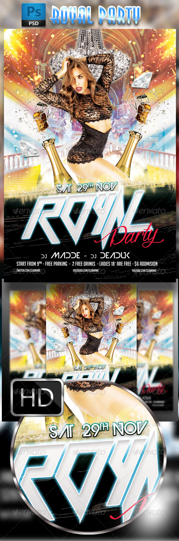 GraphicRiver Royal Party Flyer 8585127