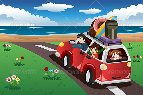 GraphicRiver Family going on a Beach Vacation 8585144