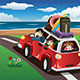 Family going on a Beach Vacation - GraphicRiver Item for Sale