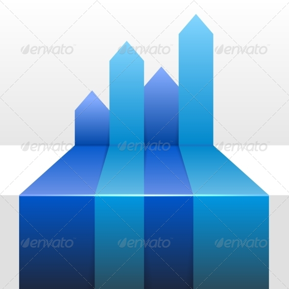GraphicRiver Infographic Background with Four Up Blue Arrows 8585207