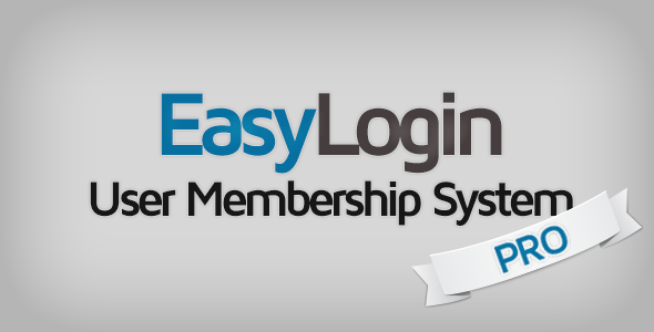 CodeCanyon EasyLogin Pro User Membership System 8585802