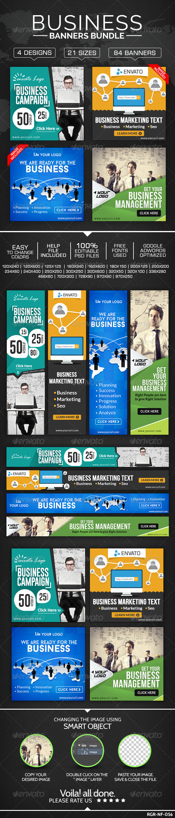 GraphicRiver Business Banners Bundle 4 Sets 8585814