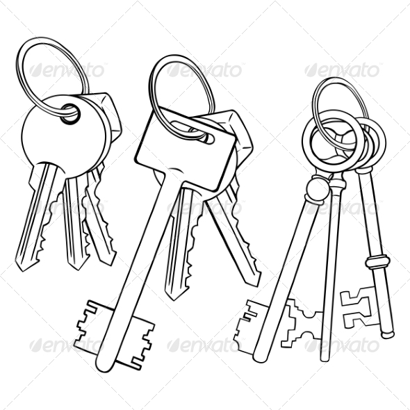 Drawing Lines In Keynote : Vector set of lineart bunches keys graphicriver