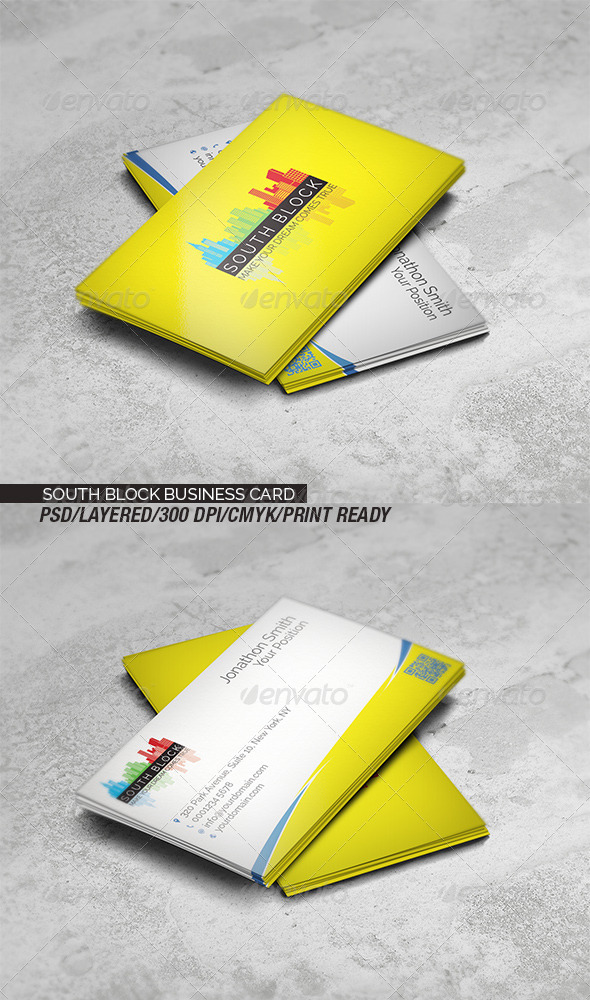 GraphicRiver South Block Business Card 8585822
