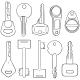 Vector Set of Lineart Modern Keys - GraphicRiver Item for Sale