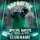 Hip Hop Rap Battle Flyer Template