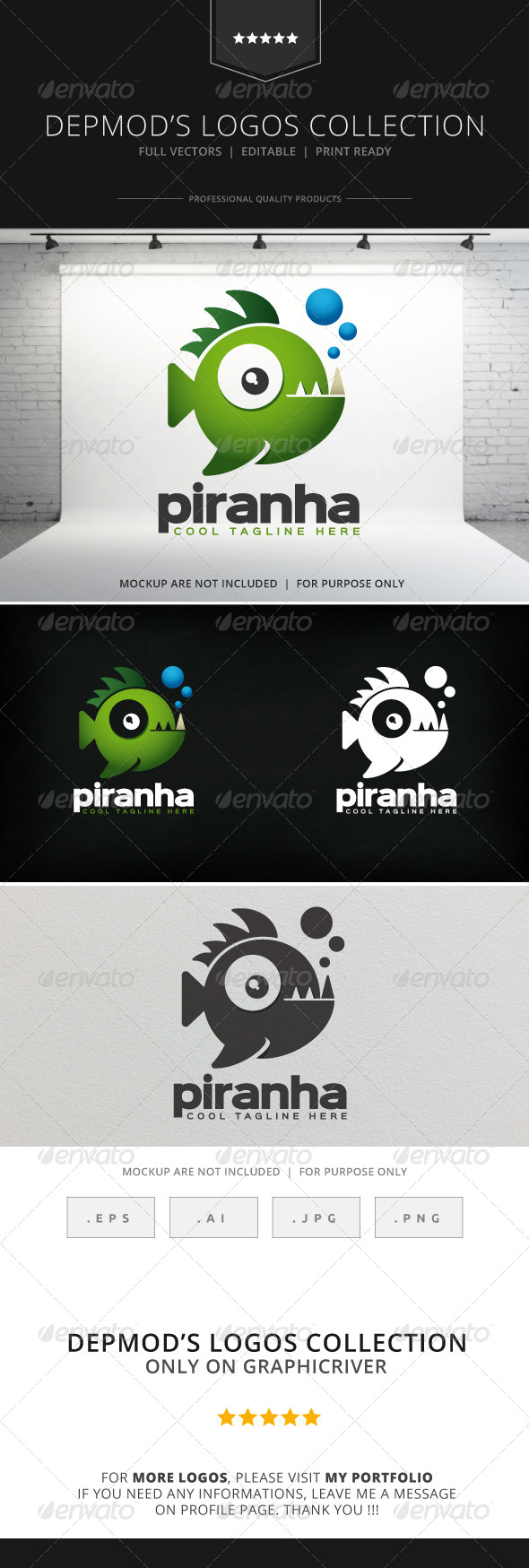 GraphicRiver Piranha Logo 8585935