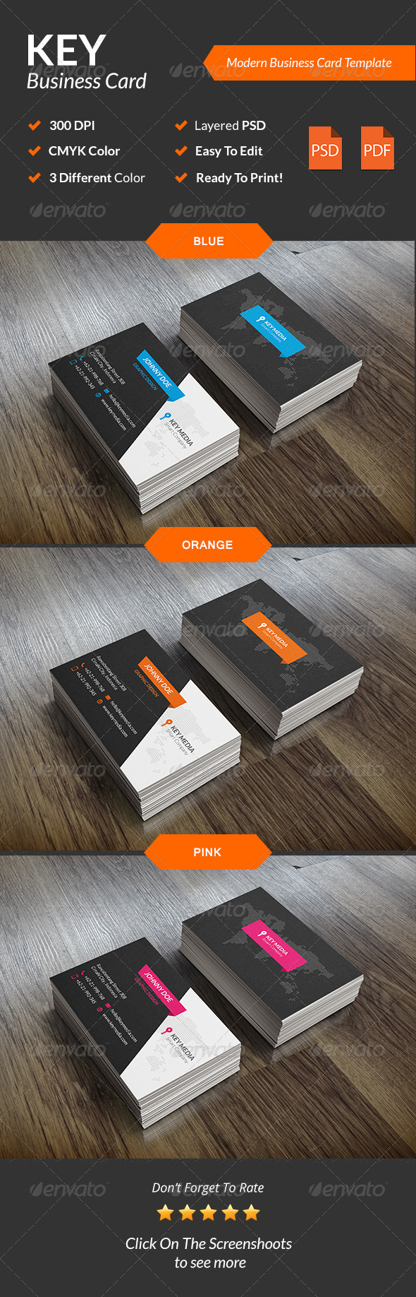 GraphicRiver Key Modern Business Card 8586002
