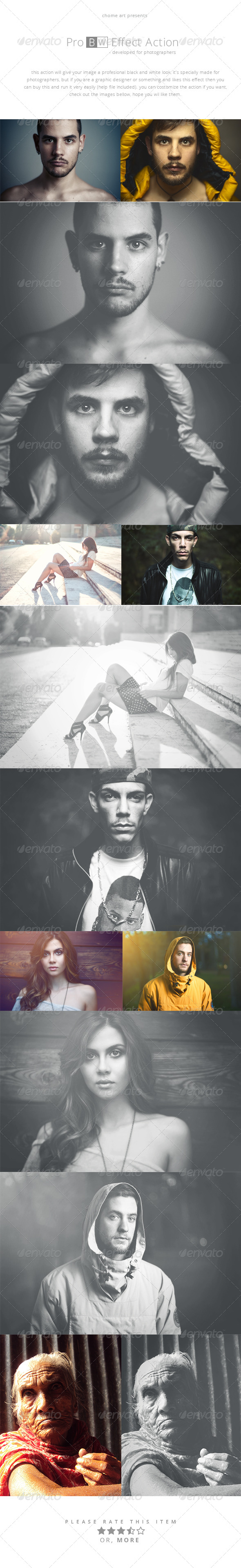 GraphicRiver Pro BW Effect Action 8586021