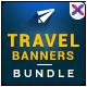 Travel Banner Bundle - 3 sets - GraphicRiver Item for Sale