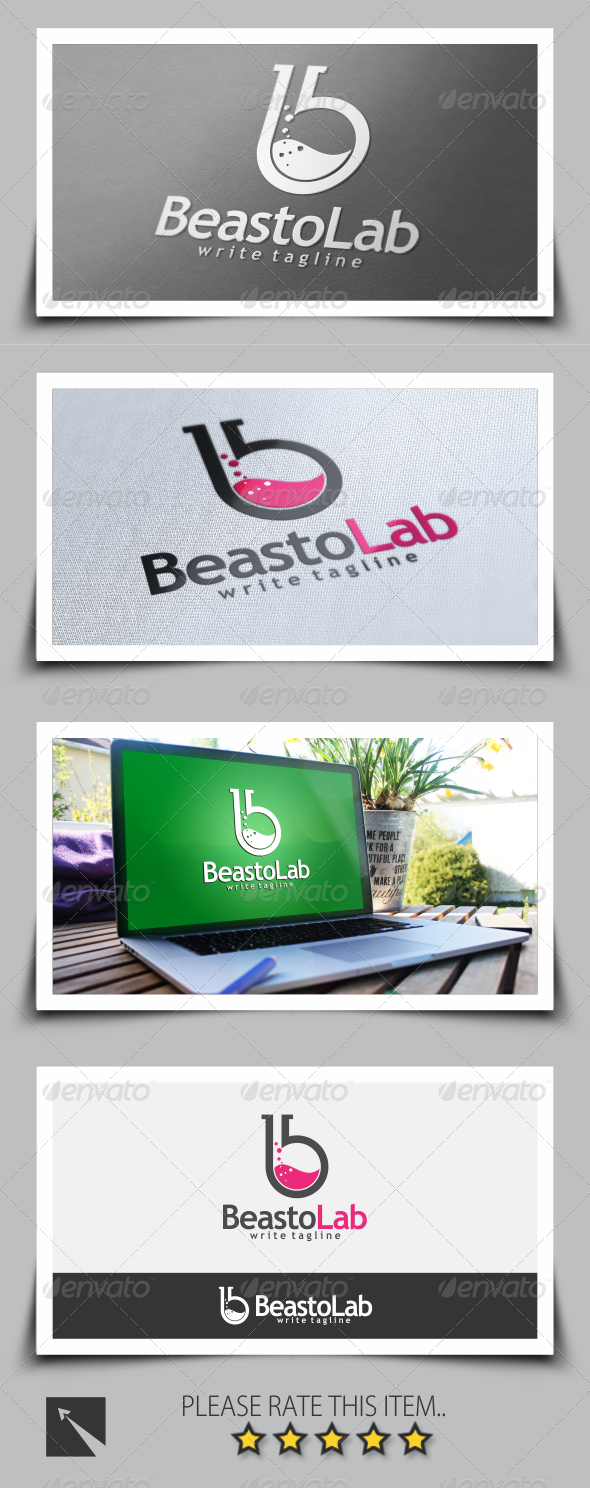 GraphicRiver Beasto Lab Letter B Logo Template 8586064