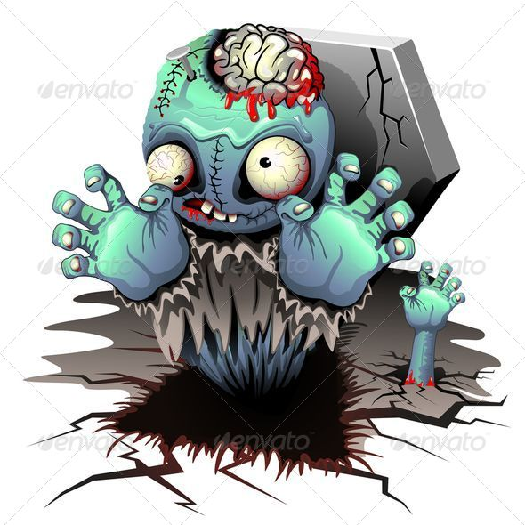 GraphicRiver Zombie Monster Cartoon Doll 8586066