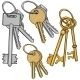 Vector Set Cartoon Bunches of Keys - GraphicRiver Item for Sale