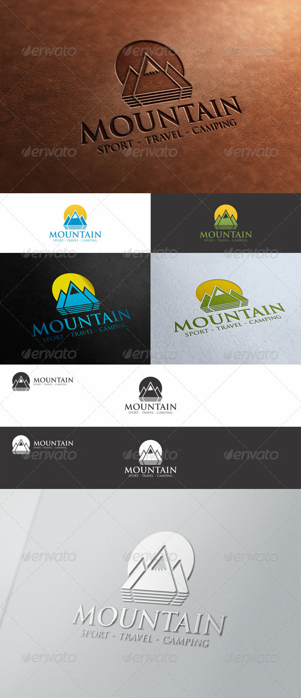 GraphicRiver Mountain Peak Logo 8586090
