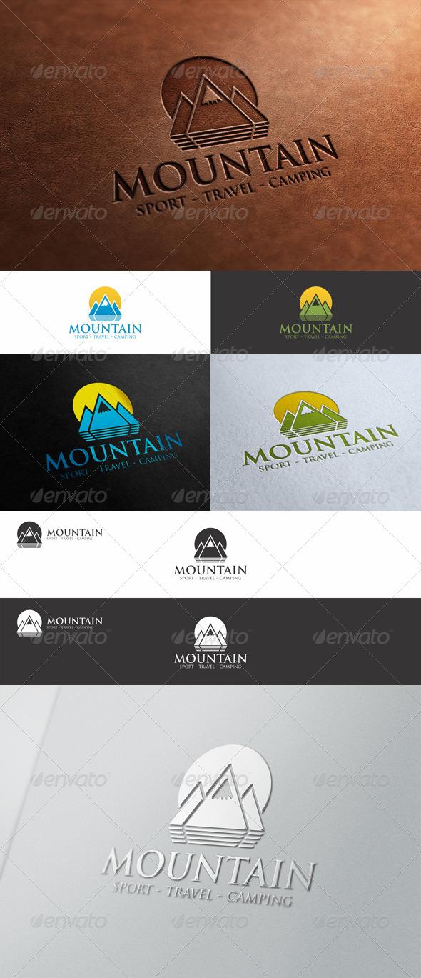 Mountain Peak Logo - Nature Logo Templates