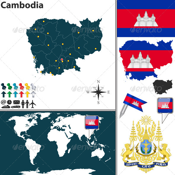 GraphicRiver Map of Cambodia 8586096
