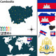 Map of Cambodia - GraphicRiver Item for Sale